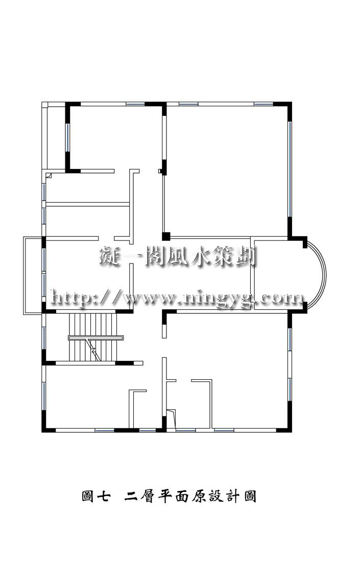 长方形160平别墅平面图